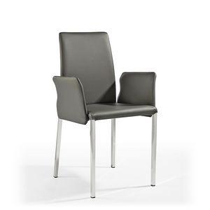 Ninfea Q BR, Moderne Stuhl aus Leder und Gummi, für Marine-Möbel