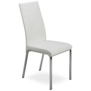 Regina, Stuhl aus Metall, mit Leder bezogen, hohe Rücken