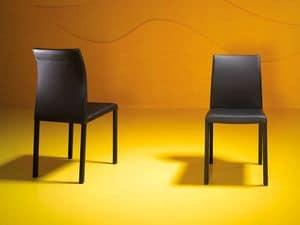 Rose low, Stuhl mit Vierkant-Stahlrohr, für Wartezimmer