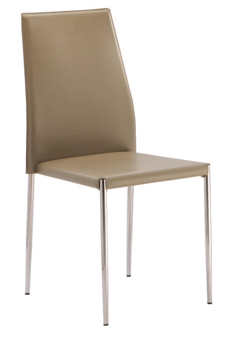 SE 620, Stuhl gepolstert in Kunstleder, stapelbar, für Hotels