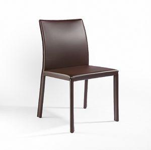 XL, Stuhl aus Metall, Lederbezug, für Bars und Küchen
