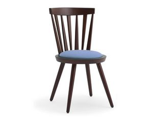 Isolda-S1, Stuhl mit Rücken mit vertikalen Lamellen