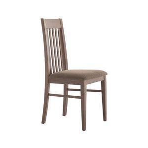 MP490F, Stuhl mit vertikaler Rückenlehne aus Holz