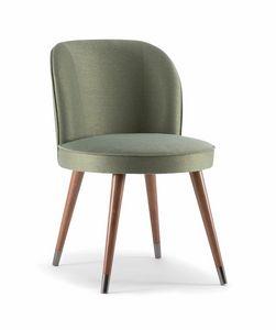 CANDY SIDE CHAIR 061 S, Stuhl mit Umhüllung und weichen Linien