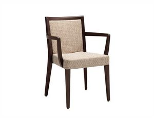 Fan 216, Stuhl mit Armlehnen, stapelbar, gepolstert