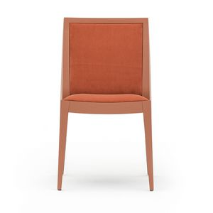 Flame 02111, Stuhl aus Massivholz, Sitz und Rücken gepolstert, Stoffbezug, moderner Stil