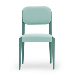 Garbo 03111, Stuhl gepolstert in Massivholz, mit Gürtel Sitz