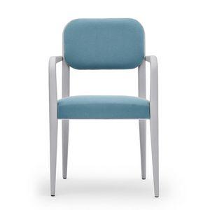 Garbo 03121, Stuhl mit Armlehnen aus Holz, mit abgerundeten Elementen