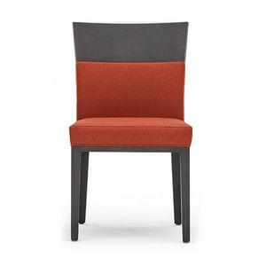 Logica 00930, Stuhl aus Massivholz, gepolsterter Sitz und Rücken, für den Objektbereich