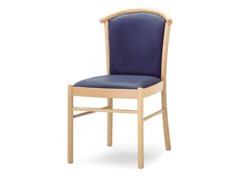 MD/4, Gepolsterter Stuhl aus Holz, für die Gaststätten