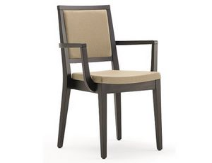 Saba-PI, Stapelbarer Stuhl mit Armlehnen