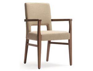 Selene-P, Stuhl mit Armlehnen empfohlen für Hotels, Restaurants und Bars