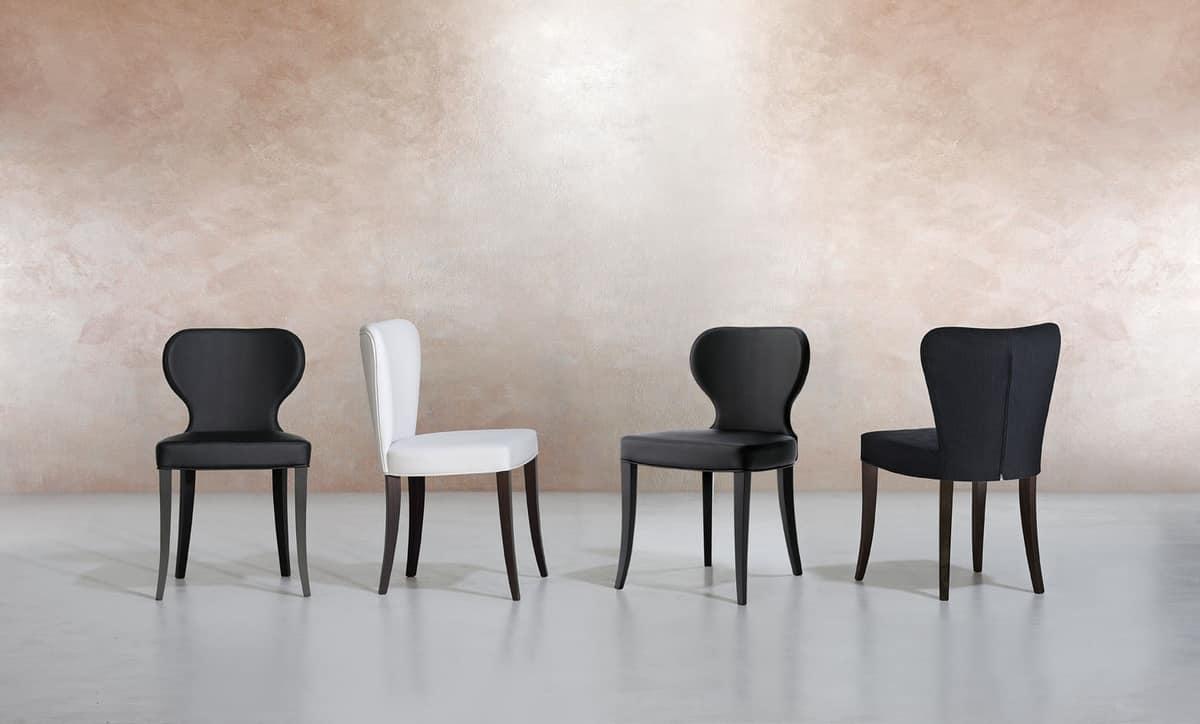 VANITY, Hölzerne gepolsterte Stuhl für Esszimmer