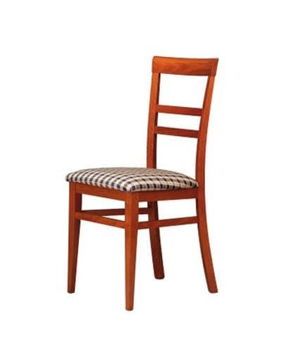 314, Stuhl mit horizontaler Muster zurück, für das Wohnzimmer