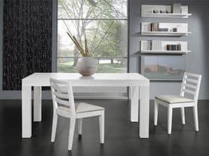 Ergänzungen Stuhl 05, Stuhl mit gepolstertem Sitz und Rückenlehne mit horizontalen Lamellen