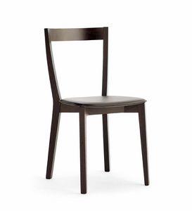 Gioy, Esszimmerstuhl in Buche und Esche, für Bars und Restaurants