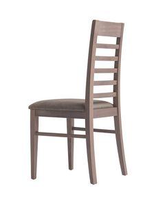 MP490E, Stuhl aus Holz mit gepolstertem Sitz