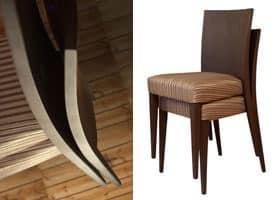 M16B, Moderne Sessel mit Holzrücken, für Wartezimmer