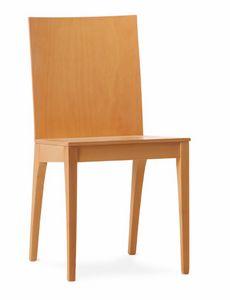 MONIA, Esszimmerstuhl komplett aus Sperrholz