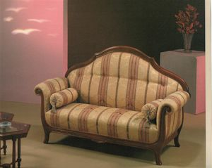 2045 SOFA, Sofa mit gestreiftem Stoff