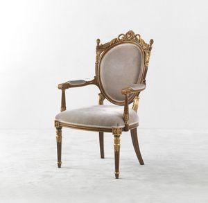 8012, Stuhl mit Armlehnen, im klassischen Stil