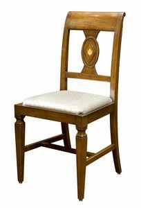 Pavia CE.1961.T, Eingelegter italienischer Stuhl im Stil des 18. Jahrhunderts