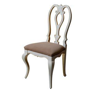 Tiffany LU.0986, Gepolsterter Stuhl mit durchbrochener Rückenlehne