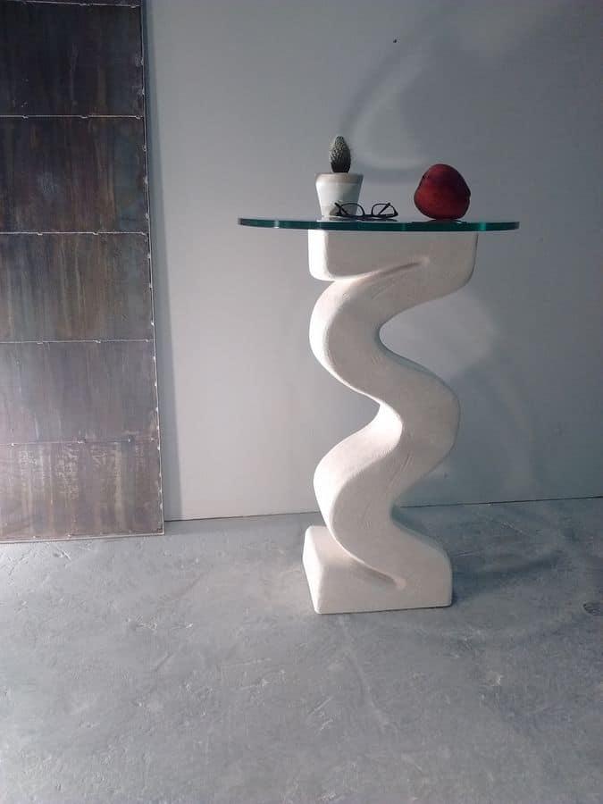 Flex, Säule mit steinernen Sockel, Glasplatte