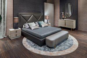 Corniche, Bett mit beeindruckendem Kopfteil