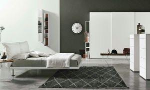 Dream, Bett mit Kopfteil aus zwei weichen Kissen