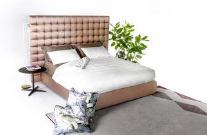 Kurt, Gepolstertes Bett mit raffinierten Oberflächen