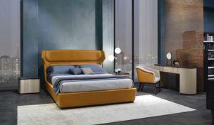 LE30 Mistral Bett, Bett gekennzeichnet durch gebogenes und anatomisches Kopfteil