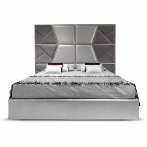 Mondrian Art. 957, Bett mit einem imposanten, gepolsterten Kopfteil