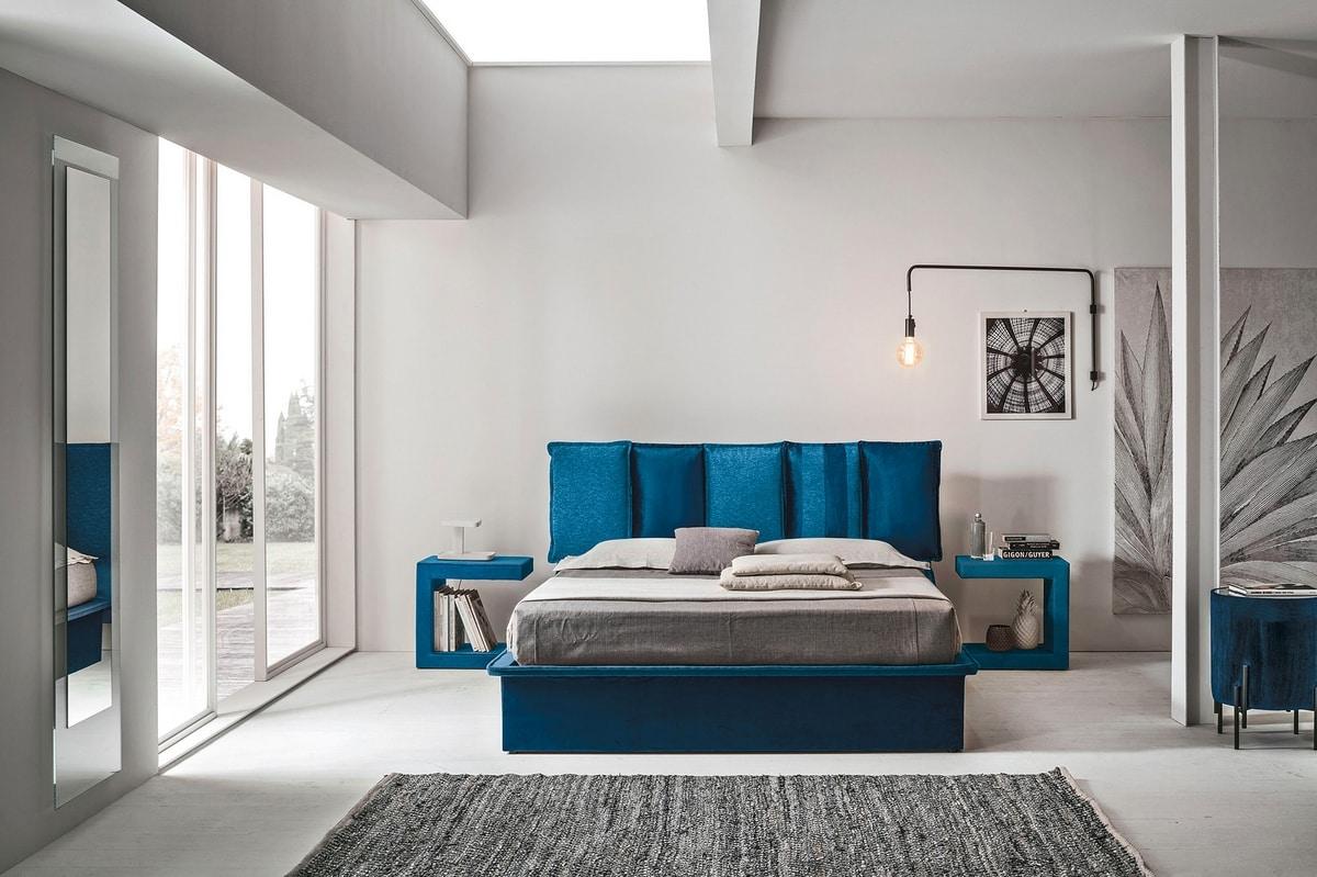 SANTORINI BD464, Zeitgenössisches Designbett