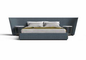Semira, Bett mit großem gepolstertem Kopfteil