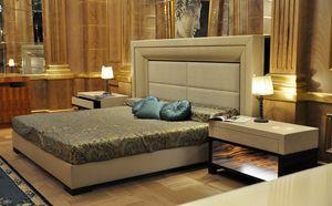 Vip Bett, Bett mit gepolstertem Kopfteil und Struktur