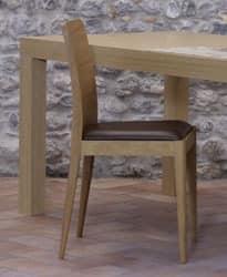 336, Linearen gepolsterten Stuhl für Hotel und modernes Haus