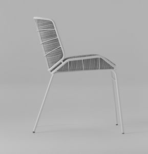 ART. 0082-MET SKIN, Gepolsterter Stuhl für drinnen und draußen