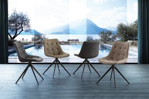 Art. 252 Carnaby, Gepolsterter Stuhl mit Gestell aus schwarz lackiertem Metall