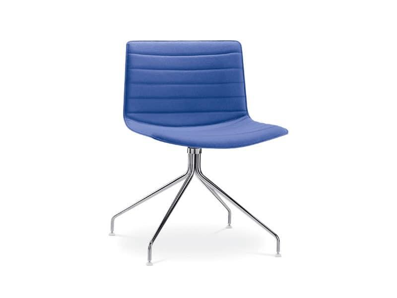 Catifa 53 0209, Designer Stuhl mit gepolstertem Drehsockel, für Hotels