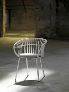 Stem 4L/SU, Sessel mit Aluminium-Struktur