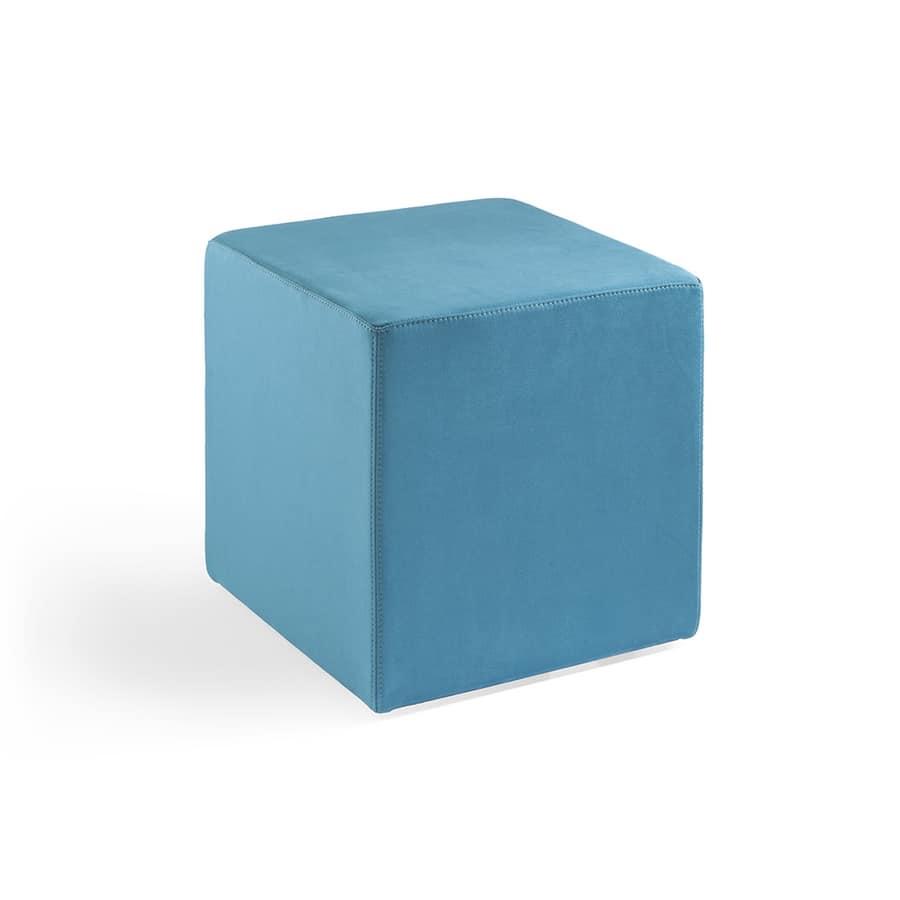 Cubo 40, Puff komplett in Leder bezogen, schwer entflammbar