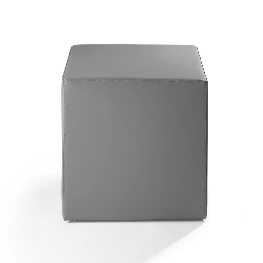 Cubo 45, Puff für Wohnbereich, gepolstert mit feuerfestem Gummi