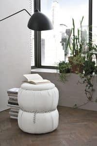 PASCIA PF606, Puff - Nachttisch mit Behälter für Wohnzwecke geeignet