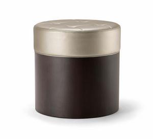 OSLO COFFEE TABLE 086 P H45, Hocker aus Holz mit gepolstertem Sitz