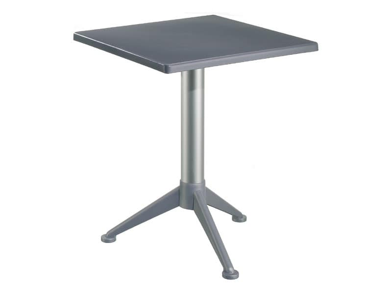 Table 60x60 cod. 20/BG3A, Bar Tisch mit quadratischer Polypropylen top
