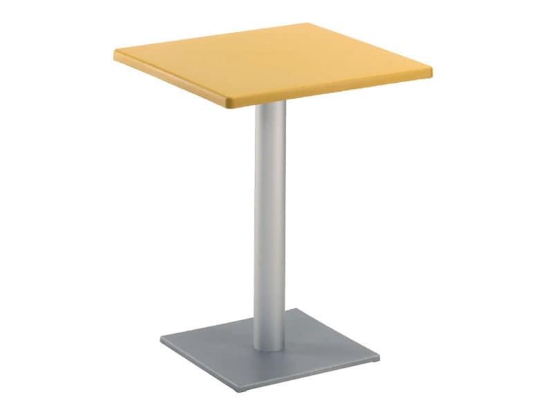 Table 60x60 cod. 20/BQ, Moderne quadratischen Tisch mit quadratischer Grundfläche, für den Außenbereich