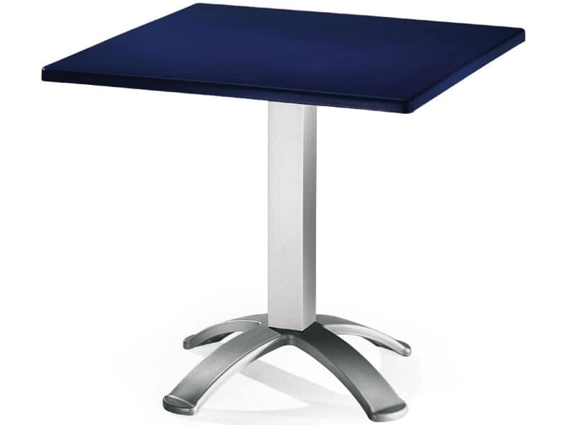 Table 80x80 cod. 23/BG4, Quadratischen Tisch mit Polypropylen top