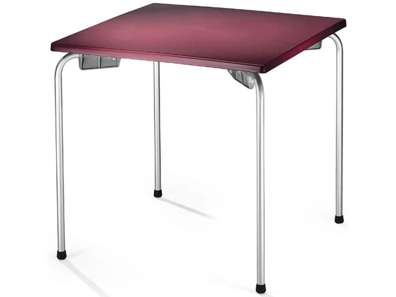 Table 80x80 cod. 23/I, Stapelbar Tisch mit quadratischer Spitze, für die Außenseite