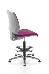 Kubix stool, Rezeption Hocker, schwenkbar und verstellbar